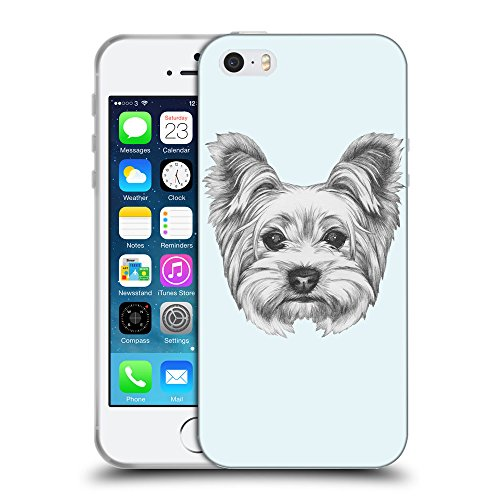 GoGoMobile Coque de Protection TPU Silicone Case pour // Q05120619 Chien dessin Bulles // Apple iPhone 5 5S 5G SE