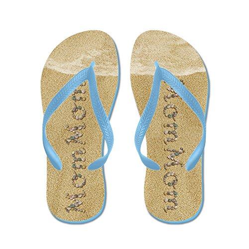 Cafepress Mommom Zeeschelpen - Flip Flops, Grappige String Sandalen, Strand Sandalen Caribbean Blue
