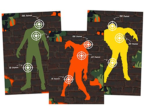 Dart Tag Themed Party Supplies (Zombie Targets) by Silly Goose Gifts