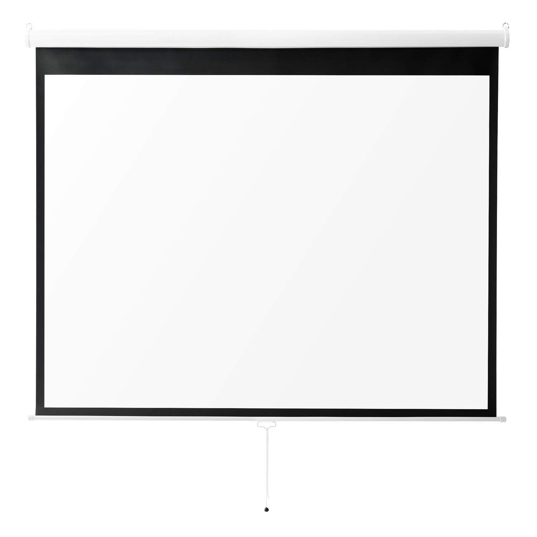 イーサプライ プロジェクタースクリーン 100インチ 4K 高解像度 フルハイビジョン 吊り下げ 壁掛け ロール 手動 4:3 EEX-PST3-100K 100インチ(4:3)  B07H3N4X46