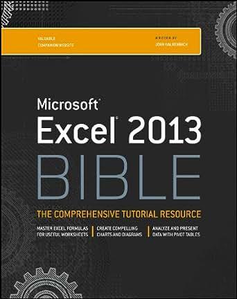 Excel 2013 Bible 1, John Walkenbach, eBook - Amazon.com