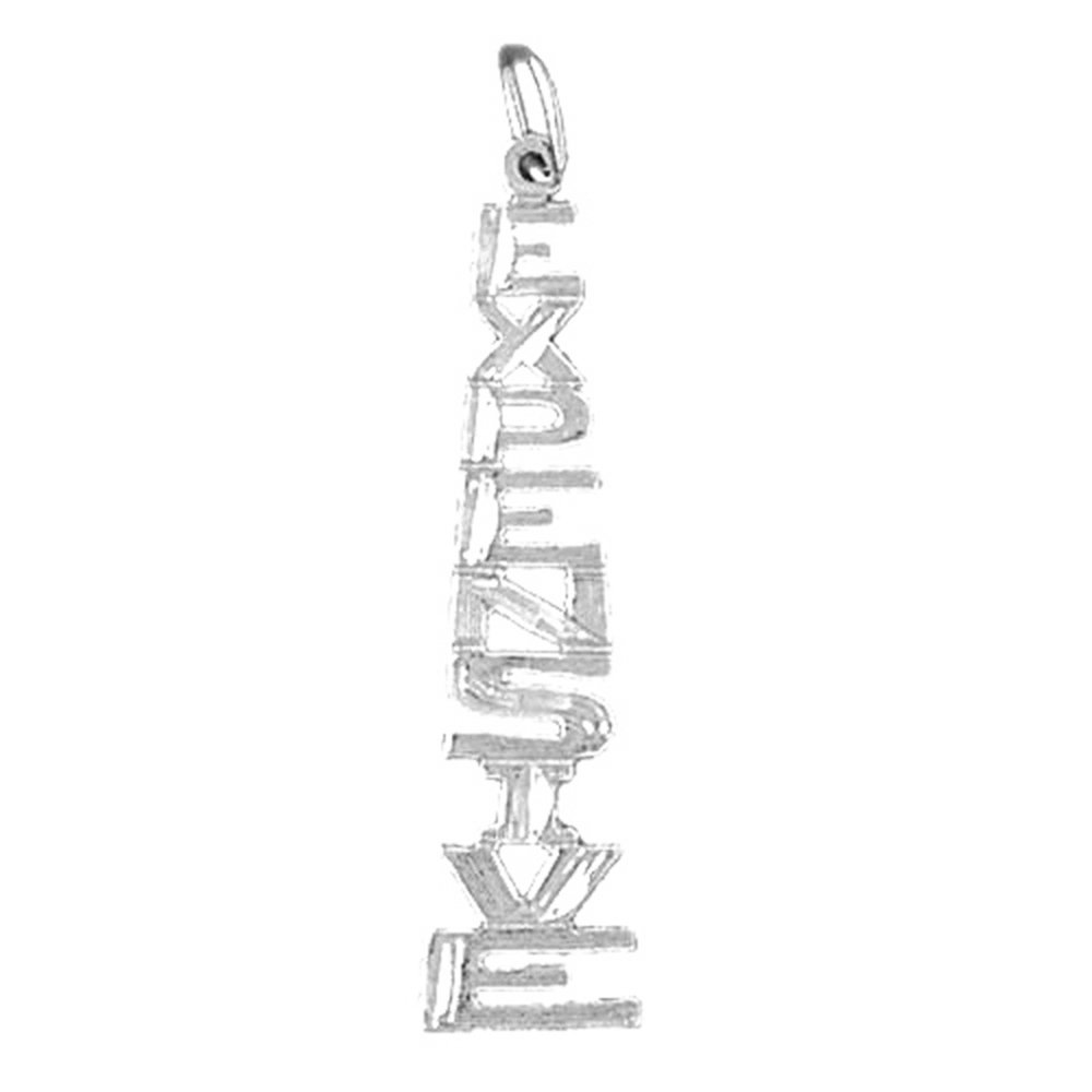 Jewels Obsession Totem Pole Necklace Rhodium-plated 925 Silver Totem Pole Pendant with 18 Necklace