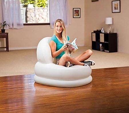 INTEX 68592 Sillón Relax Hinchable Mode Color Blanco con ...