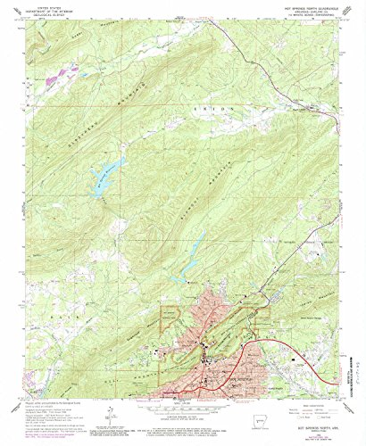 - YellowMaps Hot Springs North AR topo map, 1:24000 Scale, 7.5 X 7.5 Minute, Historical, 1966, Updated 1989, 26.8 x 22 in - Polypropylene
