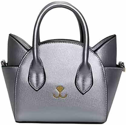 QZUnique Women s Summer Fashion Top Handle Cute Cat Cross Body Shoulder Bag 4002eeab77535