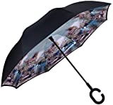 lovely patio design ideas images Marino Upside Down Umbrella - Reverse Folding Inside Out Umbrella - Unbreakable - Country Side