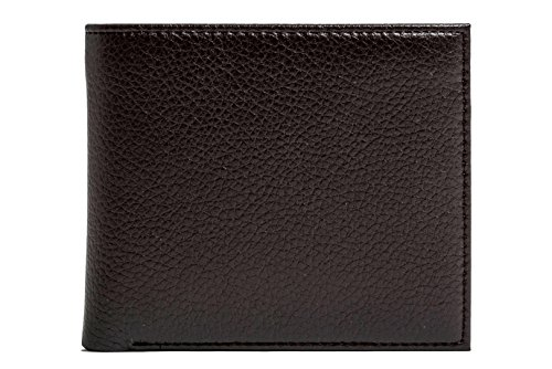 Doshi Wallet w/coin pocket - Brown Pebbled Microfiber Leather - Vegan Wallet