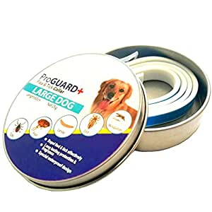 [New 2017 Version] Flea and Tick Collar for Large Dogs and Puppies - Best Natural Pet Protection Kills, Repels, & Prevents Fleas, Pests, Insects for 8 Months - Waterproof - Stops Bites & Itching