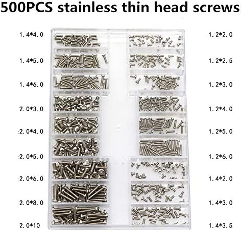 Color : H Panel Screws 500Pcs Mini Screw DIY Kit 18 Types Using for Laptop Computer Repair Screw Fastener Set Nails Fasteners