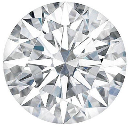 Arya's C ROUND Cut Loose Real Moissanite, Use for Pendant/Ring Genuine Near White Color, 1ct to 3ct, Near white, moissanite, Why pay so high when you get same quality for less, (3) ()