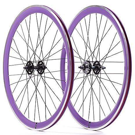 State Bicycle Fixed Gear Components - Rueda para Bicicletas, Color Violeta, Talla 700 C: Amazon.es: Deportes y aire libre