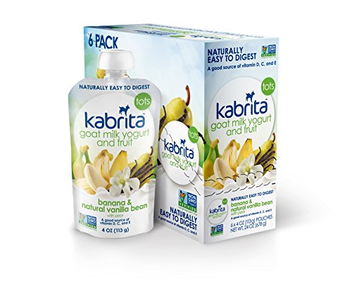 Kabrita Goat Milk Yogurt and Fruit, Banana Vanilla, 3.5 oz (Pack of 6)