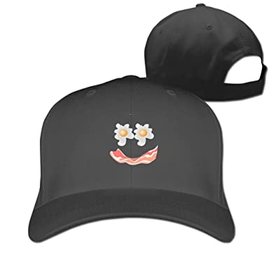 Amazon.com  May Bacon and Eggs Baseball Caps Graphic Top Level ... 43d6d27d7c0