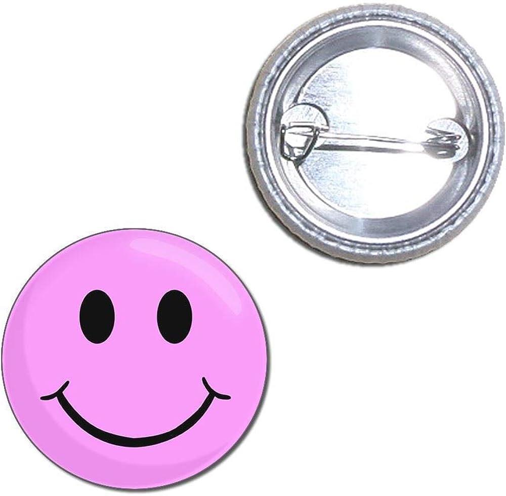 Badge de bouton Pink Smiley