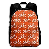 Jiaozhudf74 White Bicycles Sport Transport College School Student Bookbag For Men&Women,Travel Outdoor Hiking&Camping Rucksack
