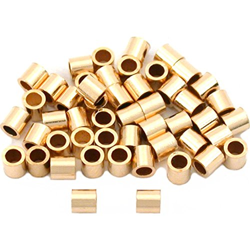 50 Gold Filled Tube Crimp Beads Jewelry Beading ()
