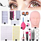N-Fasion Professional Lashes Kit False Eyelash Extensions Practice Set for Beginners Makeup Training