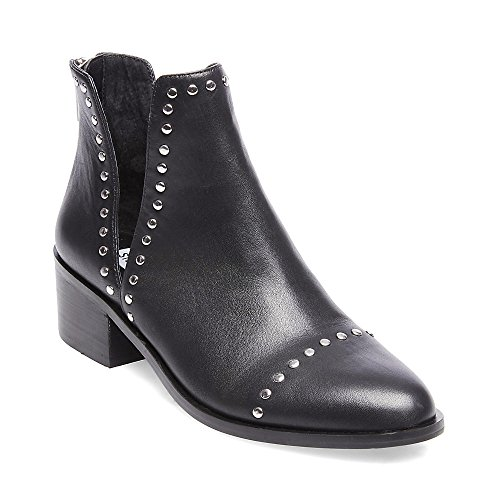 Steve Madden Women's CONSPIRE Fashion Boot, Black Leather, 6