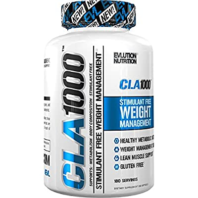 Evlution Nutrition - CLA 1000 Conjugated Linoleic Acid, Soft Gel, Weight Loss Supplement, Stimulant-Free
