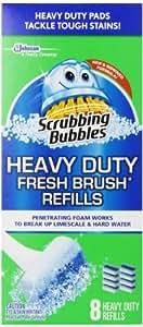 Scrubbing Bubbles Fresh Brush Refill, 64 Total Refills (8 Packs of 8 Count),citrus scent.