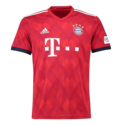 Fc Official Replica Home Jersey - adidas FC Bayern Munich 2018/19 Short Sleeve Home Jersey - Adult - FCB True Red/Strong Red F11/White - Small