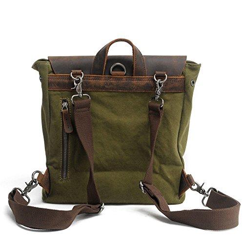 Zaino Un'escursione Daypacks In Verde Tela Scuola Borsa Vendemmia Campeggio Caffè Tracolla Aperta All'aria 6wY5O6q