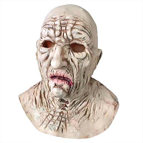 Old Creepy Halloween Costumes (Creepy Halloween Mask Full Face Latex Makeup Dance Mask Mask Face)