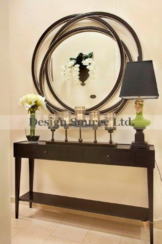 Amazon Com Extra Large 48 Entwined Circles Wall Mirror Black
