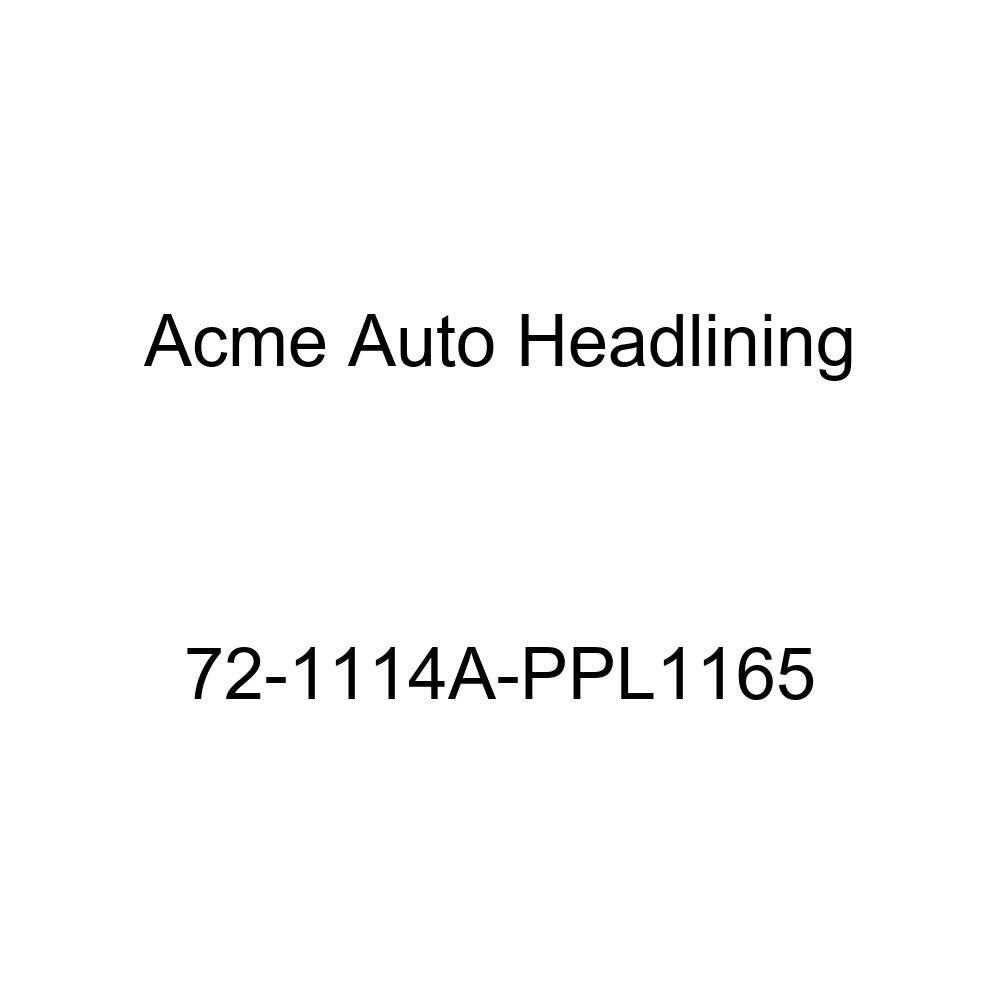 Acme Auto Headlining 72-1114A-PPL1165 Black Replacement Headliner 1972 Buick Centurion 4 Door Hardtop 5 Bow