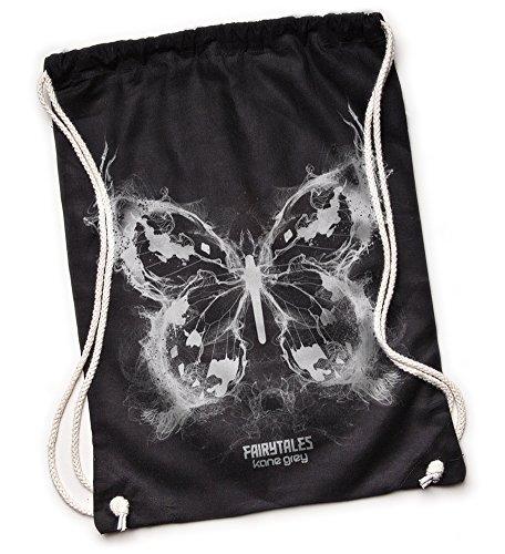Kane Grey Kane Grey - Butterfly - Bio Turnbeutel aus Segeltuch - Bolso mochila  de Lona para mujer talla única negro