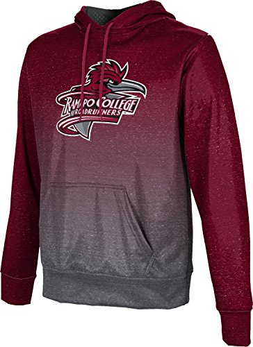 ProSphere Ramapo College of New Jersey Men's Pullover Hoodie, School Spirit Sweatshirt (Ombre) FCF72 Red and Gray