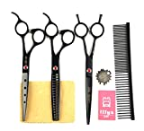 Best LILYS PET Grooming Scissors - LILYS PET Professional PET Dog Grooming Scissors Cutting&Curved&Thinning Review