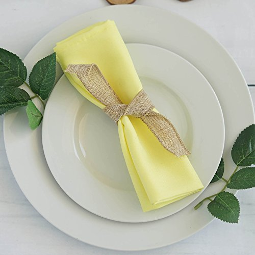 BalsaCircle 20 pcs 17-Inch Yellow Polyester Luncheon Napkins - for Wedding Party Reception Events Restaurant Kitchen - Yellow Wedding Napkins