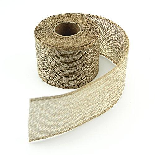 VATIN 2 Inches Wide Burlap Ribbons Natural Jute