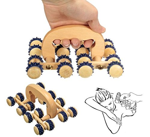 1pcs 16 Wooden Roller Rolling Ball Wheel Massager Back Body Relax Massage Tool by Abcstore99 (Prostate Tool Massage)