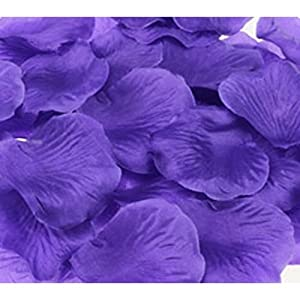 1000pcs Deep Purple Silk Rose Petals Bouquet Artificial Flower Wedding Party Aisle Decor Tabl Scatters Confett 2