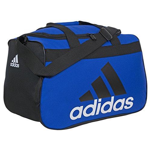 adidas Diablo Small Duffel Bag, Bold Blue/Black/White, 11 x 18.5 x 10-Inch