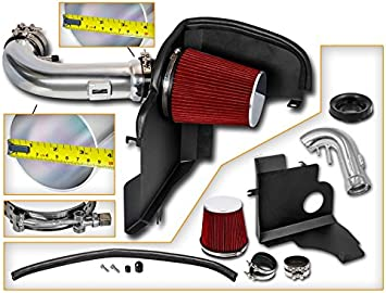 Cold Air Intake System with Heat Shield Kit Filter Combo RED Compatible For 11-14 Ford Mustang 5.0L V8