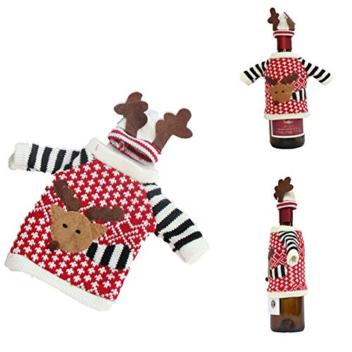 Clothes Decoration - Wholesale Red Wine Bottle Covers Cartoon Clothes With Hats Party Or Gifts Christmas Decoration - Closet Travel Pants Clothes Dustproof Bags Protector Plastic Covers Rack S