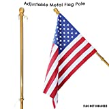 Toland Home Garden 407142 Metal Flag Pole with Anti-wrap Sleeve