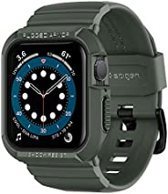 Spigen Rugged Armor Pro Designed for Apple Watch 44mm Band with Case Protector for Series 6 /SE/5/4 - Parent