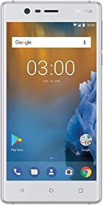 """Nokia 3 - Android 9.0 Pie - 16 GB - Unlocked Smartphone (AT&T/T-Mobile/Metropcs/Cricket/Mint) - 5.0"""" HD Screen - White"""