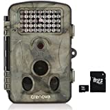 Crenova 12MP 1080P HD Game & Trail Hunting Camera Night Vision up to 65ft with 42pcs 940nm IR LEDs and 120 Wide Angle, 2.4 LCD Display,0.6s Trigger Time Game Camera