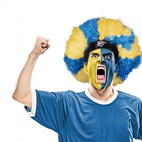 NBA Oklahoma City Thunder Curly Head Wig, 10.5-Inch x 6-Inch, (Costumes Okc)