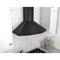 Zephyr ZSA-M90D 685 CFM 36 Inch Wide Wall Mounted Range Hood from the Savona Ser, Black