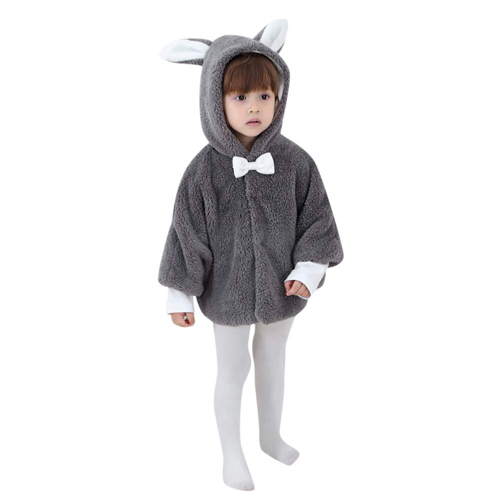 Londony ♪❤ Clearance Sales, Baby Little Girls Boys Winter Autumn Rabbit Ears Hooded Coats Cotton Warm Jacket Coat Londony007