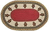 Gingerbread Kitchen Rugs Earth Rugs OP-111 Gingerbread Men Design Rug, 20 x 30