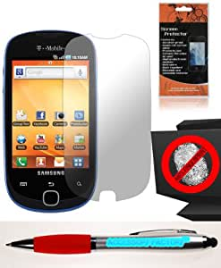 Accessory Factory(TM) Bundle (the item, 2in1 Stylus Point Pen) Anti-Glare Screen Protector for Samsung T589 Gravity SMART LCD