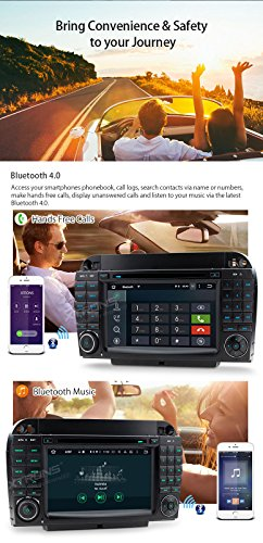 XTRONS Android 6.0 Octa-Core 64Bit 7 Inch Capacitive Touch Screen Car Stereo Radio DVD Player GPS CANbus Screen Mirroring Function OBD2 Tire Pressure Monitoring for Mercedes-Benz S-Class W220 by XTRONS (Image #7)