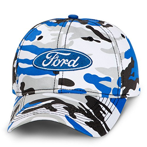 Mac Adjustable Hat (Ford Logo Camo Ice Baseball Cap)